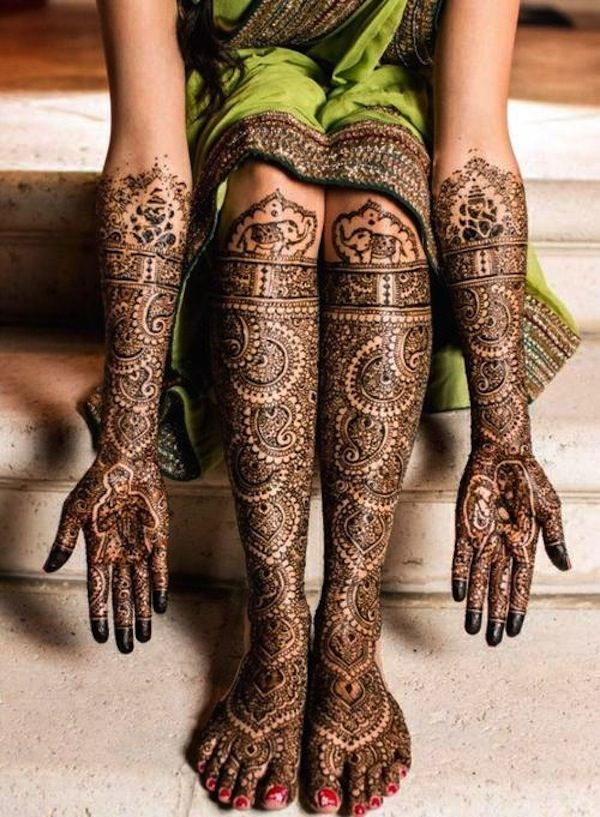 60 Stunning Henna Tattoos and Designs too Incredible to Describe