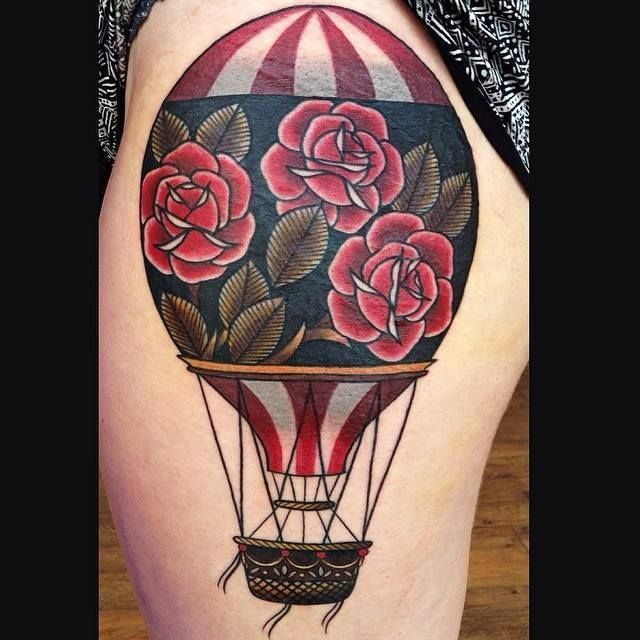 Hot Air Balloon Tattoos the Are Out of This World Amazing